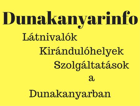 Dunakanyarinfo blog