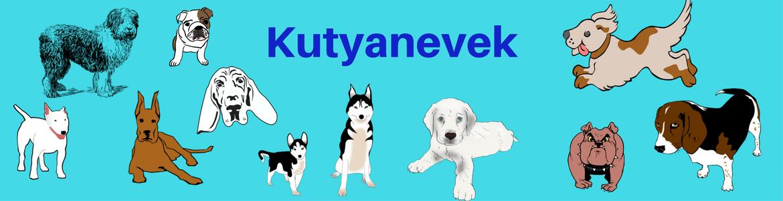 Kutyanevek logó - Kutya nevek, kutyanevek, kutyanevek fajta szerint, kan kutya nevek, legszebb kutyanevek, kislány kutya nevek, különleges kutyanevek, legjobb kutyanevek.